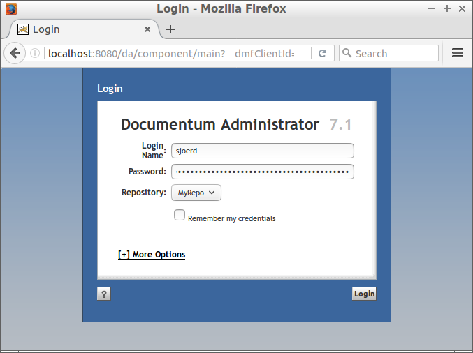 Open redirect with authentication in OpenText Documentum