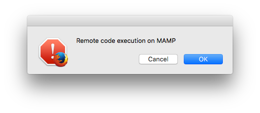 Drive-by remote code execution in MAMP